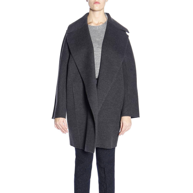 Lyst - Marina Rinaldi Coat Women in Gray e6631328fab