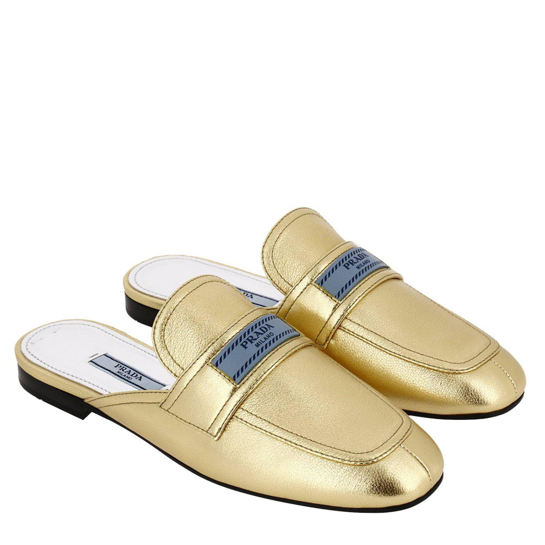 88f408d22f Prada - Metallic Ballet Flats Shoes Women - Lyst. View fullscreen