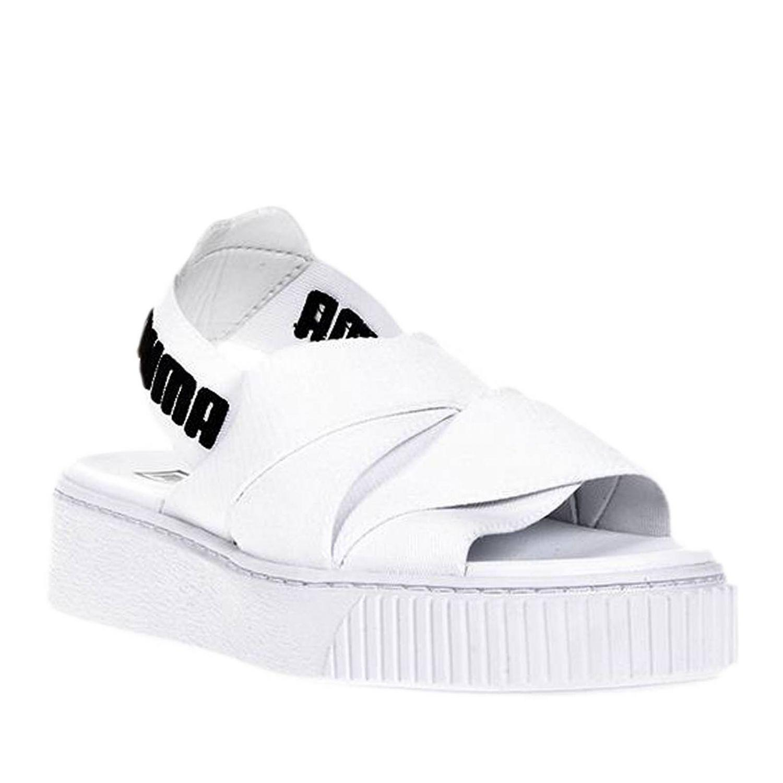 Plates Femme Puma Lyst Blanc Coloris Chaussures Select Sandales En m0wnO8vN