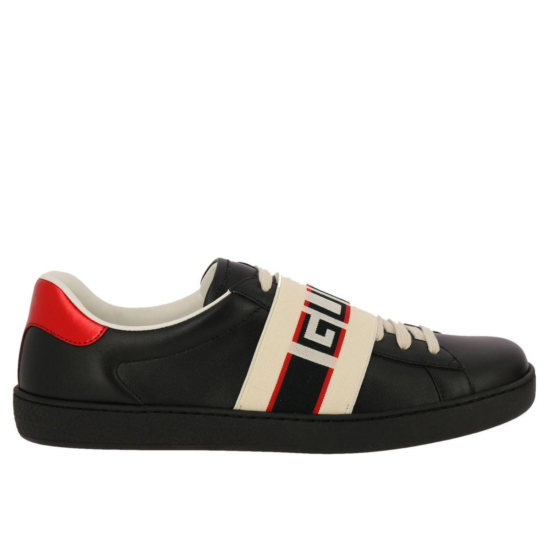 Gucci Rubber New Ace Sneaker in Nero