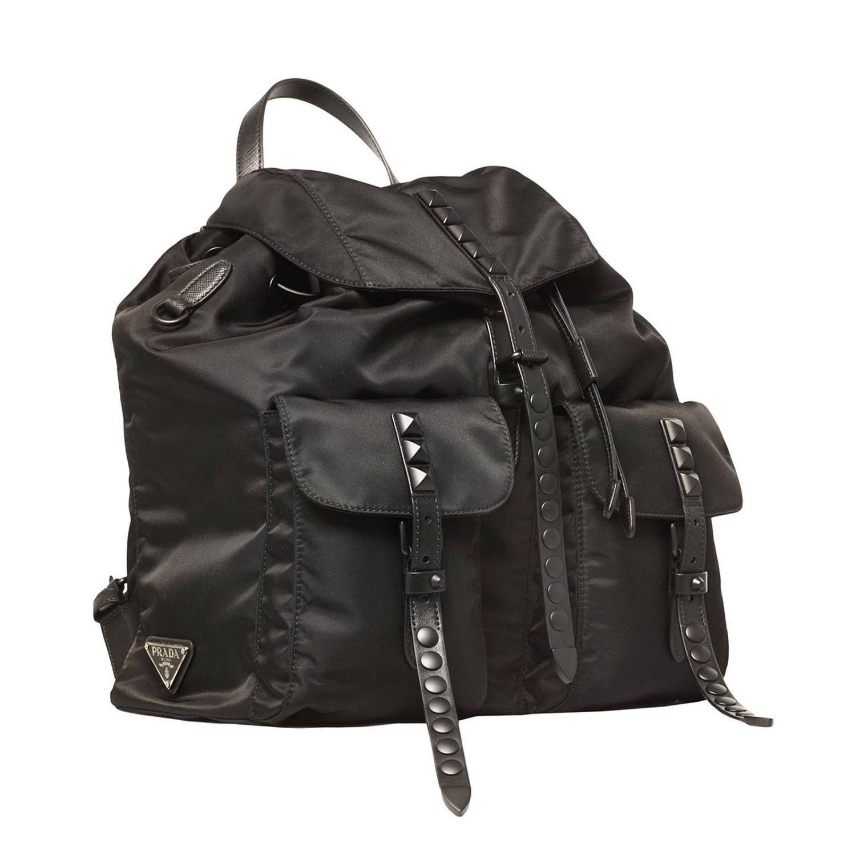 1b4dfadcc347 Lyst - Prada Backpack Shoulder Bag Women in Black