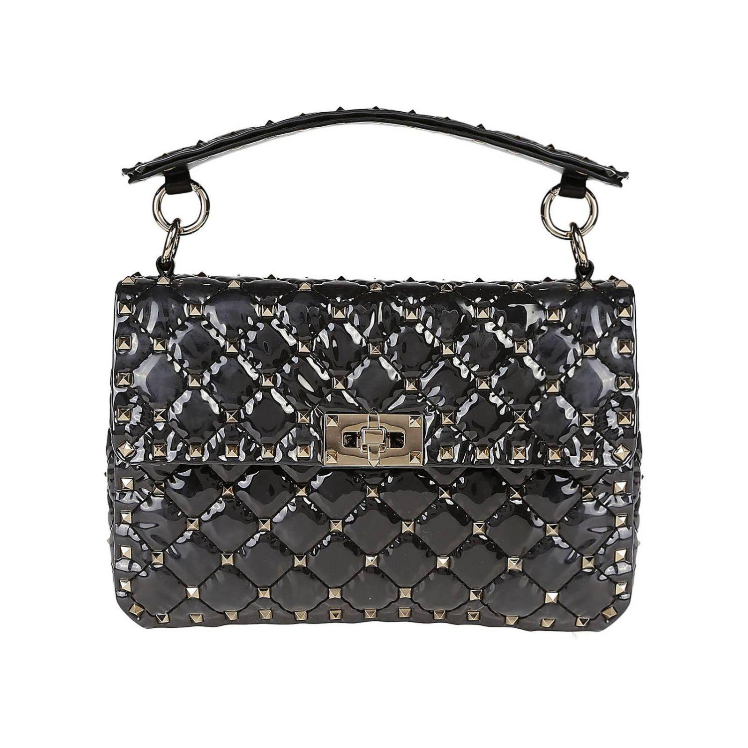Studs Rockstud With Pvc And In Valentino Bag Spike Micro TxHwnq0