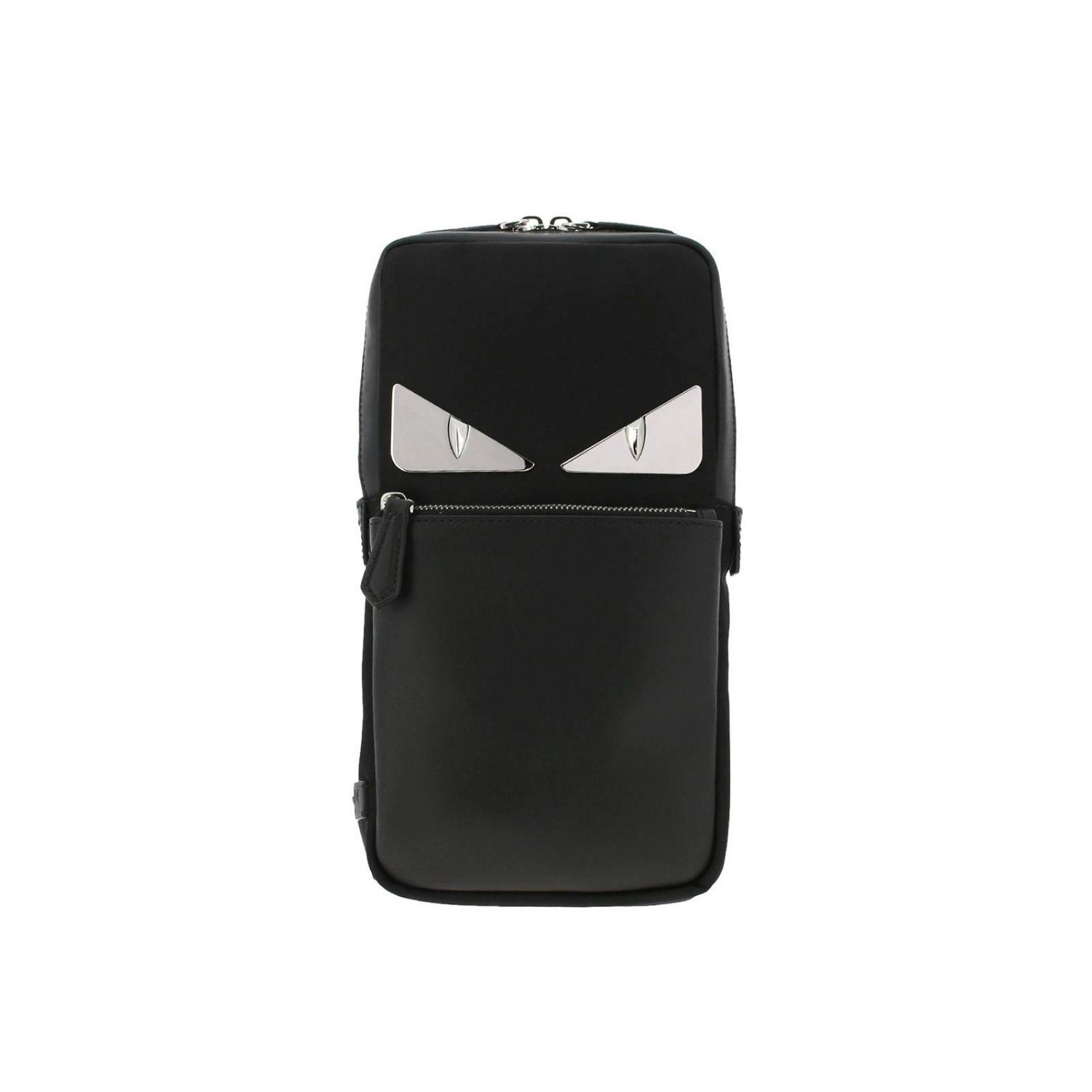 864761f62dc Fendi Monster Eye One-shoulder Backpack In Leather And Nylon With ...
