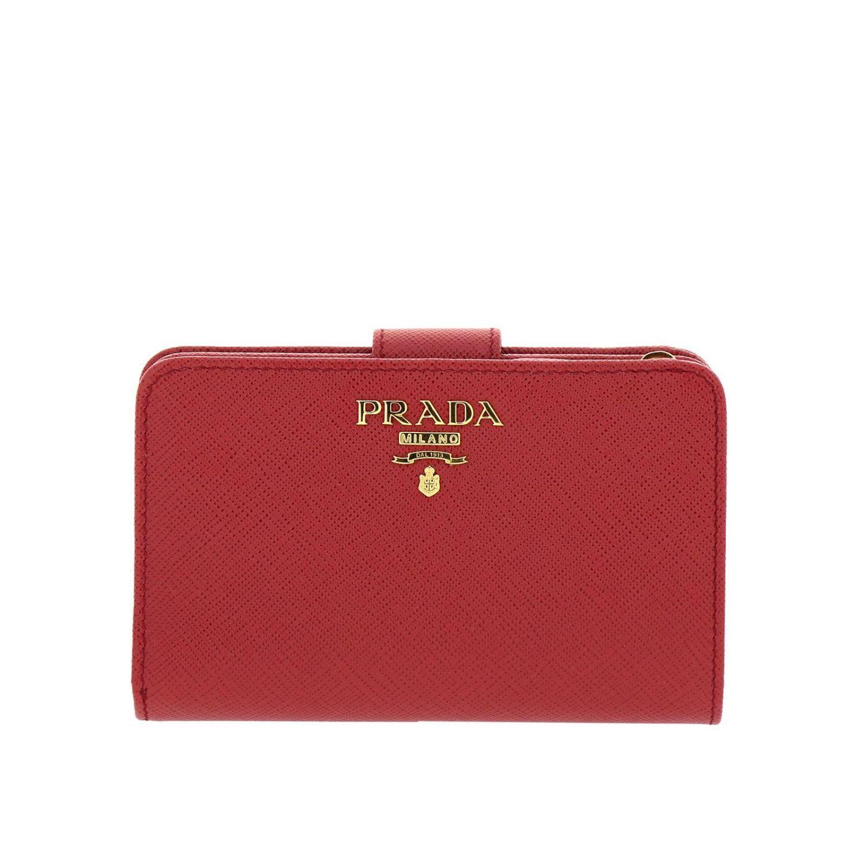 a3fd3a133953 Prada - Red Wallet Women - Lyst. View fullscreen
