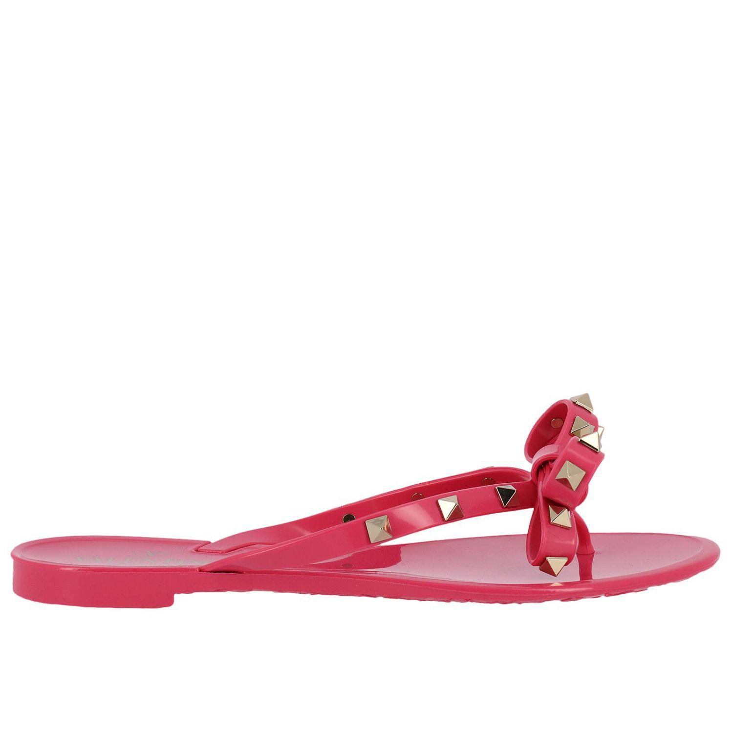 Valentino Flat Sandals Valentino Rockstud Flip Flop Sandals In Pvc With Maxi Bow Cheap Sale How Much Get To Buy UzxGuTeus