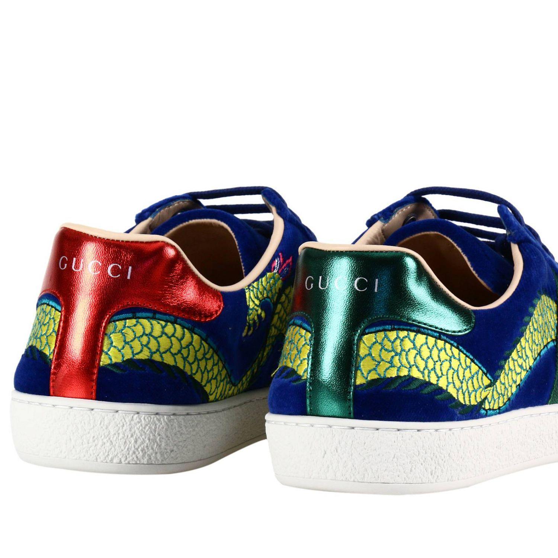 7c55ba10650 Lyst - Gucci Sneakers Shoes Men in Blue for Men