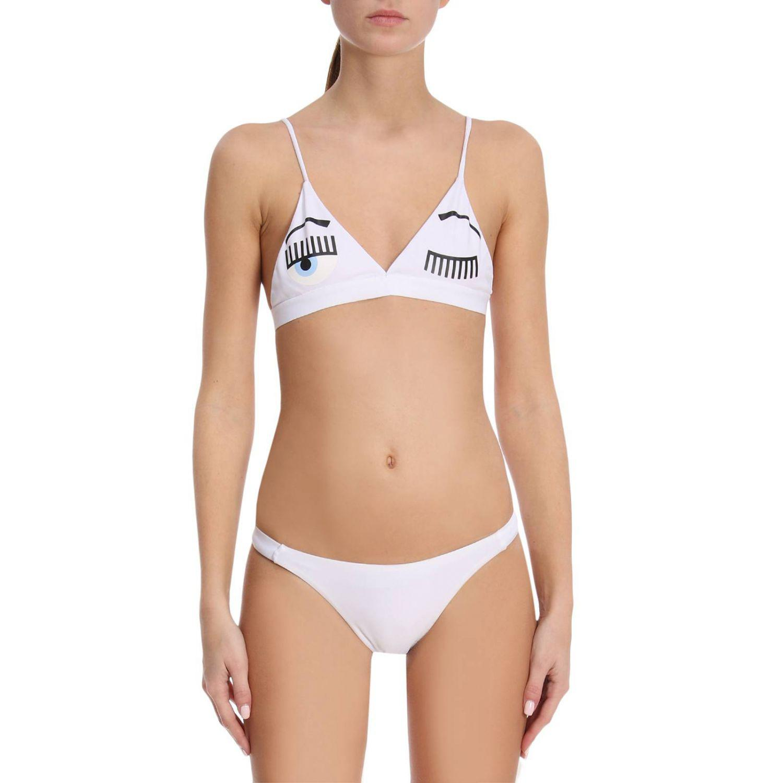 Cheap For Cheap palm tree two-piece bikini - White Chiara Ferragni New For Sale Cheap Authentic usWktwJ