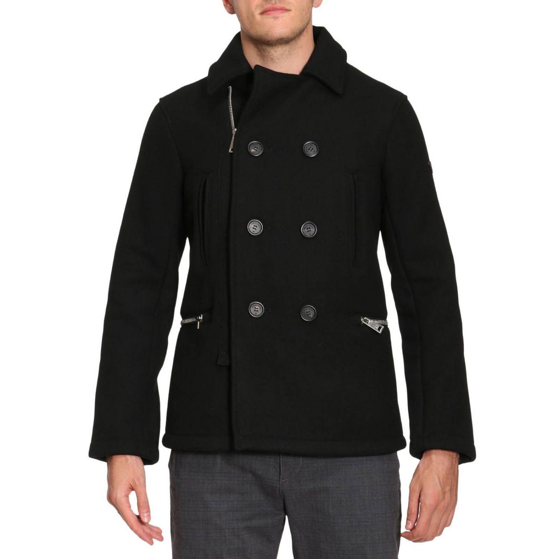 Armani jeans Coat Men in Black for Men