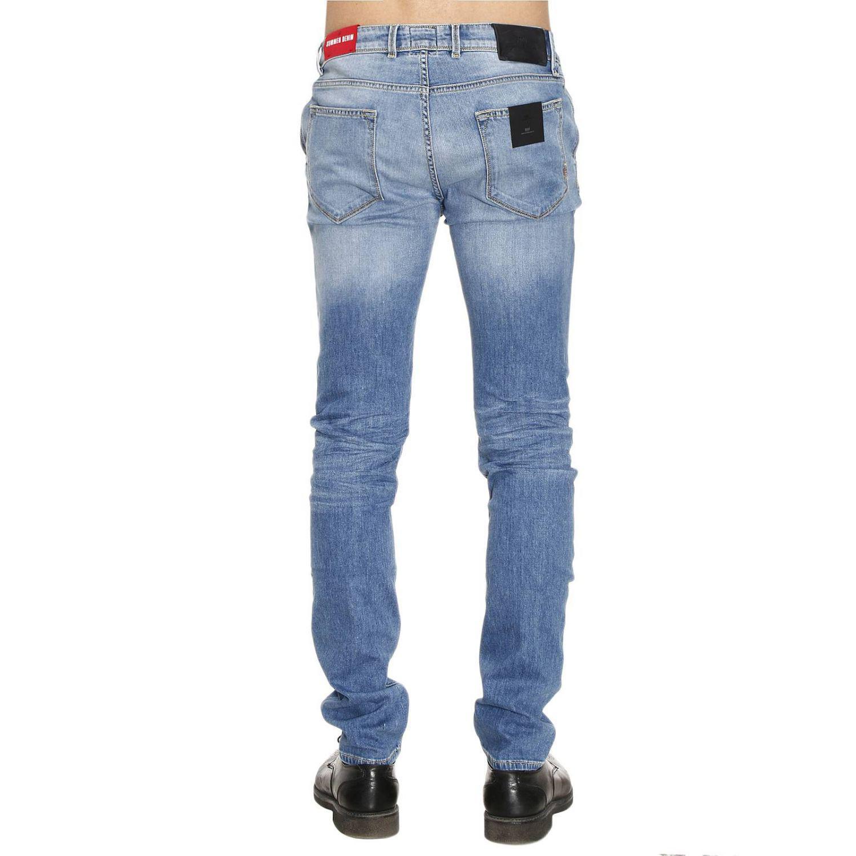 PT01 Denim Jeans Men in Stone Washed (Blue) for Men