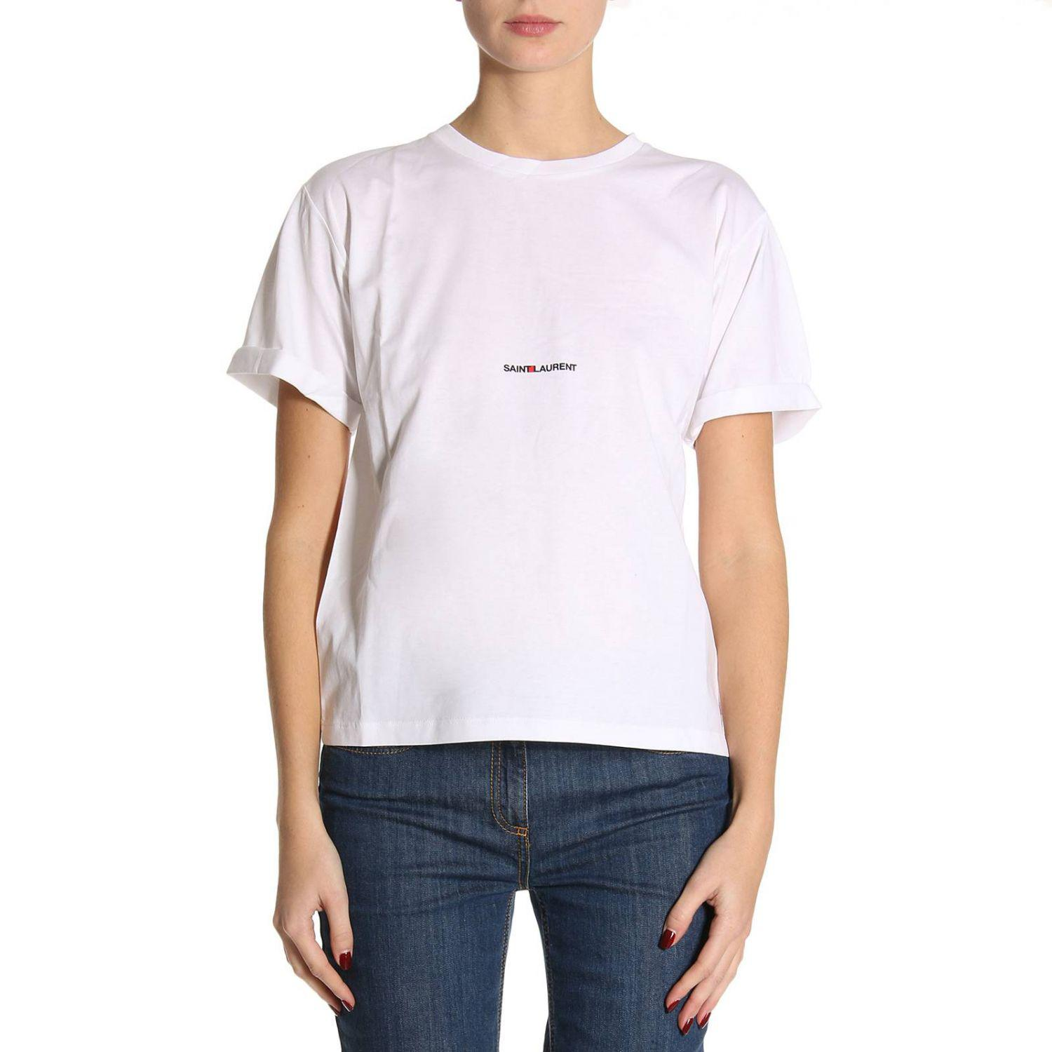 lyst saint laurent t shirt women in white