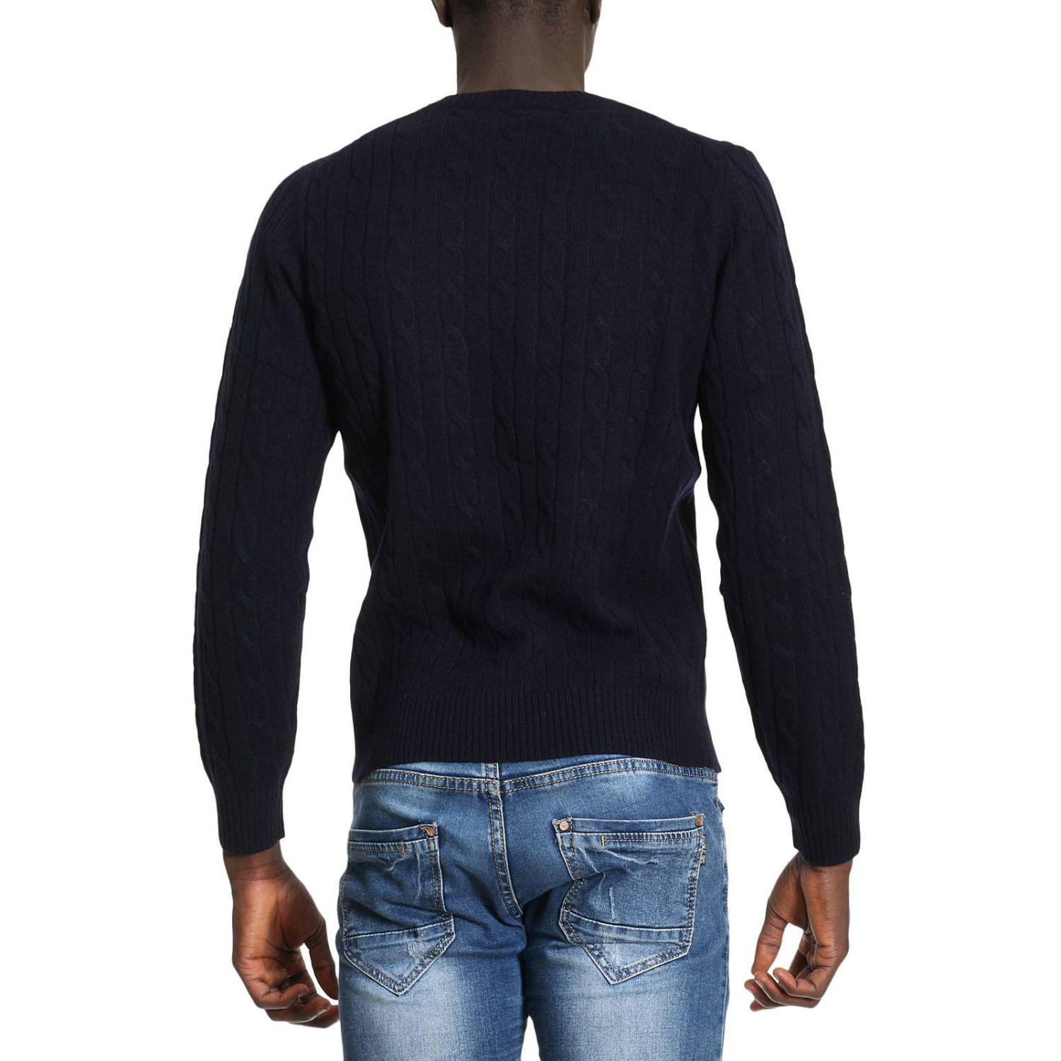 Brooks Brothers Wool Sweater Men in Blue for Men