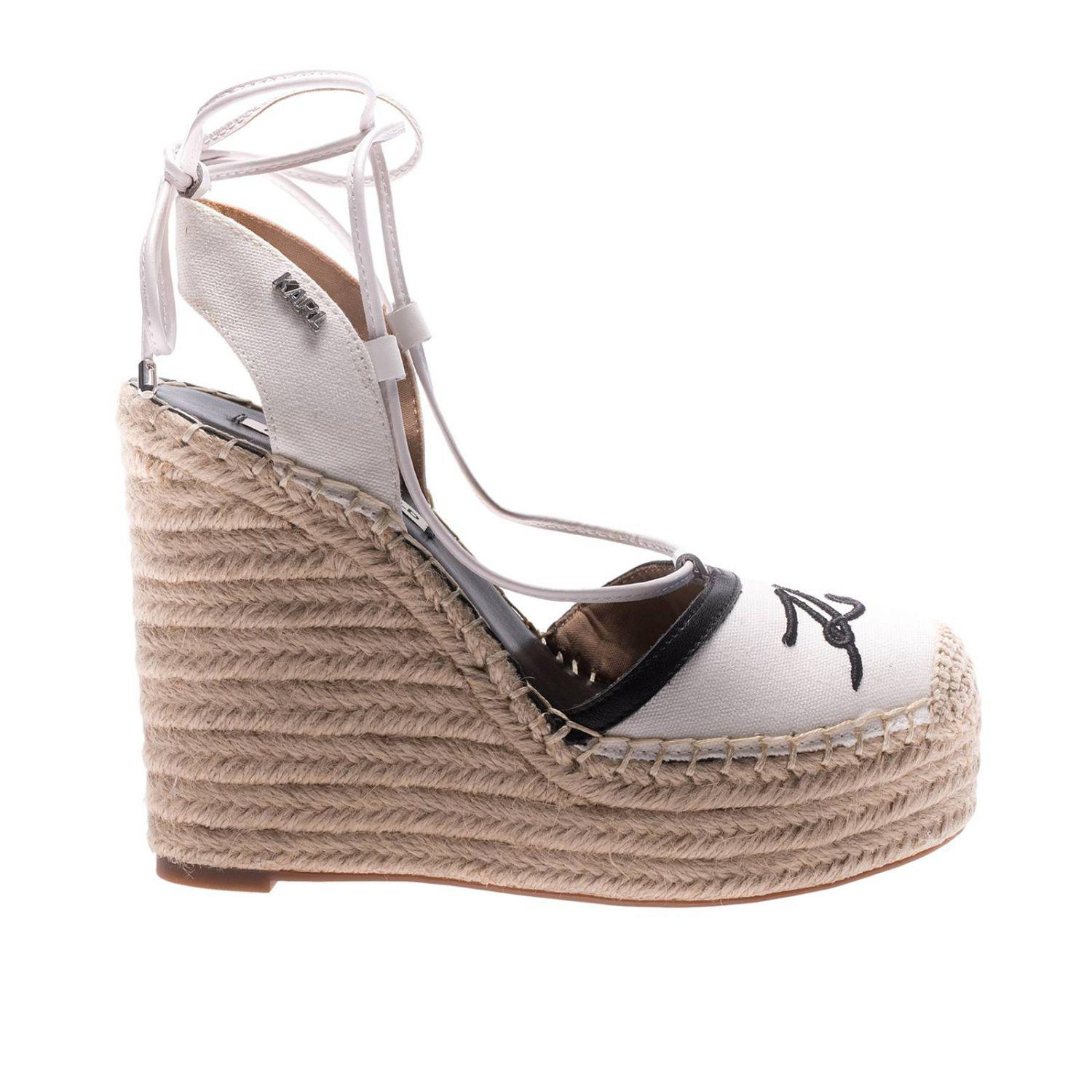 Karl Lagerfeld Leather Wedge Shoes