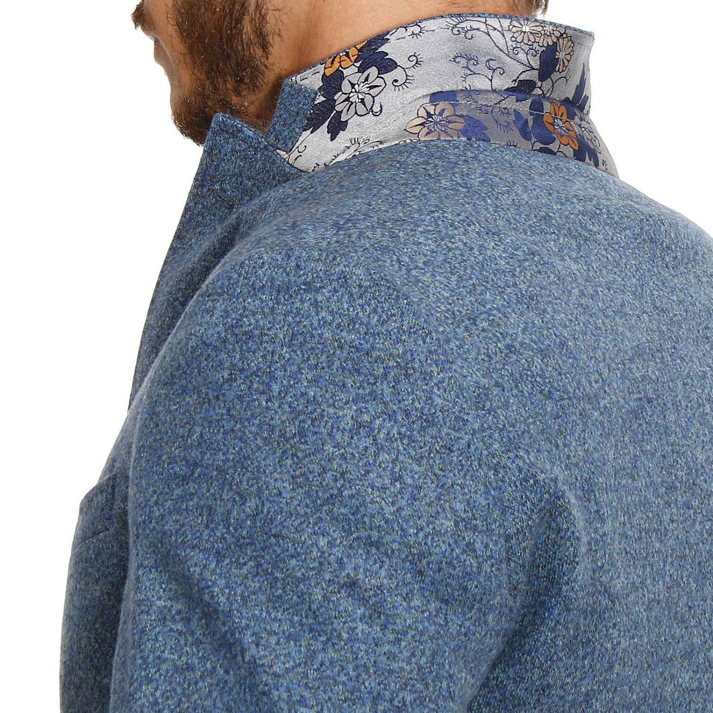 Etro Wool Blazer Men in Blue for Men