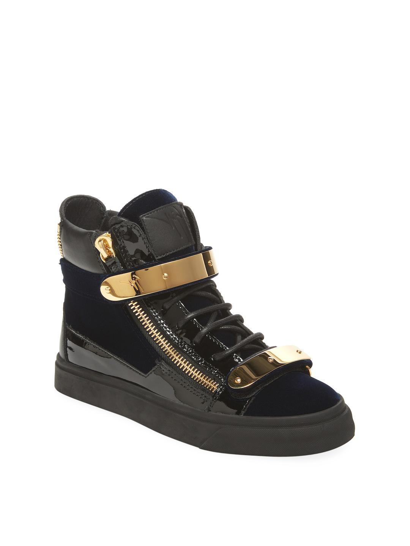 Sneaker calfskin textile Logo black camouflage Giuseppe Zanotti j1MlUYdu1U