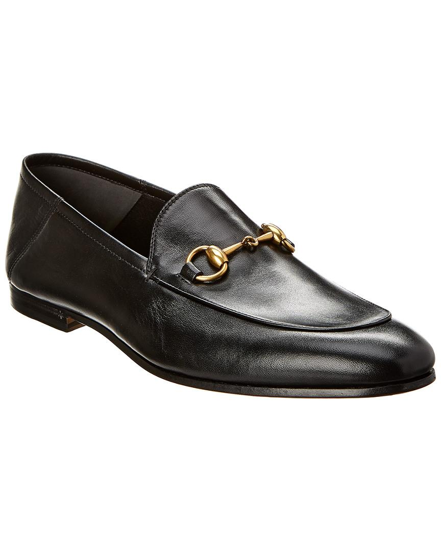 fb602fa71f1 Lyst - Gucci Brixton Leather Loafer in Black for Men