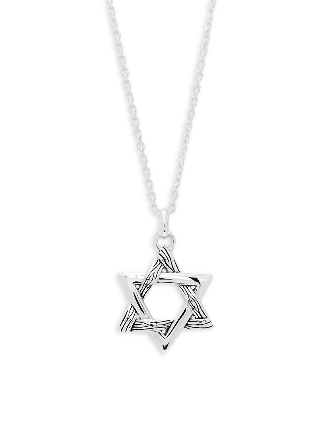 Effy Sterling Silver Star Pendant Necklace in Metallic