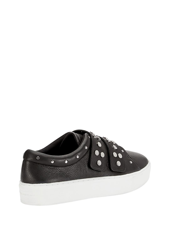 Rebecca Minkoff Natasha Leather And Suede Sneaker in Black