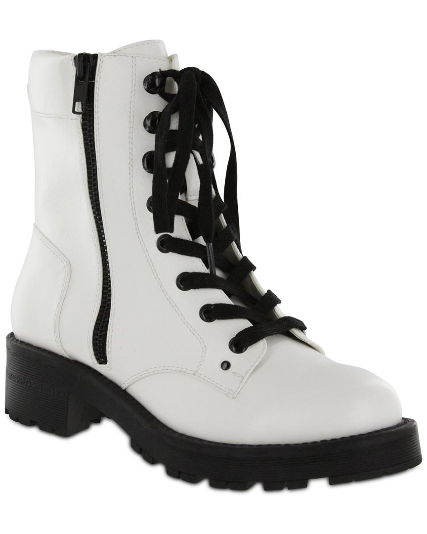 MIA Leather Mia Dean Boot in White