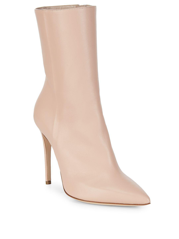 Aperlai Mid-calf Leather Stiletto Boots