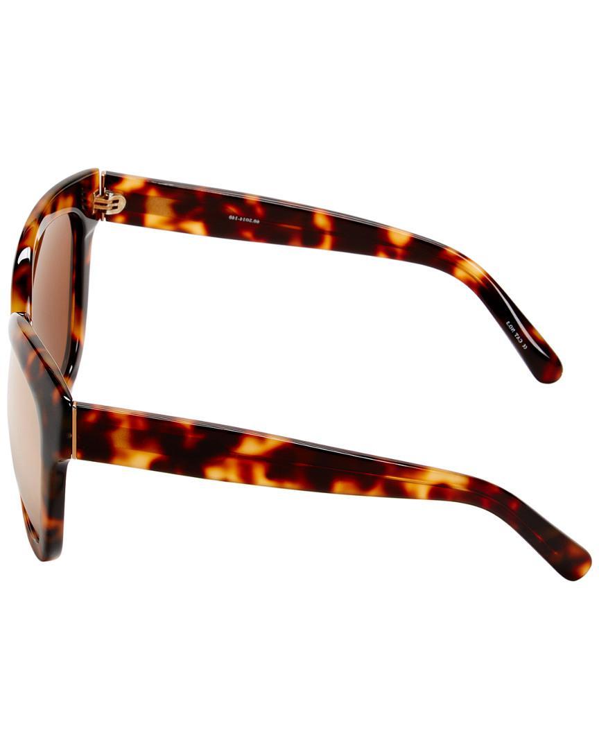481e45cf9d Linda Farrow Luxe 60.5mm Cat-eye Sunglasses in Brown - Lyst