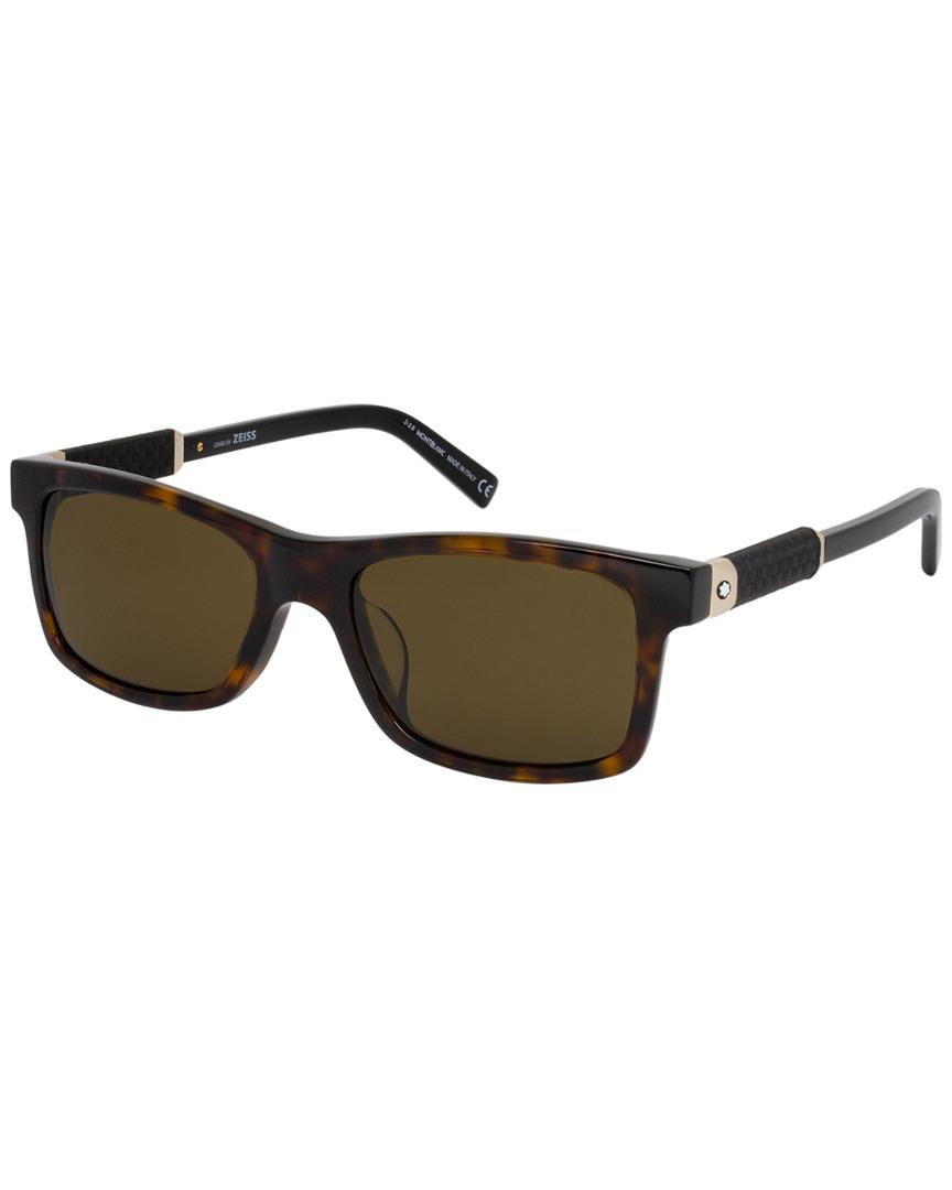 71b5431da8 Montblanc Mont Blanc Men s Mb646s-f 54mm Sunglasses in Brown for Men ...