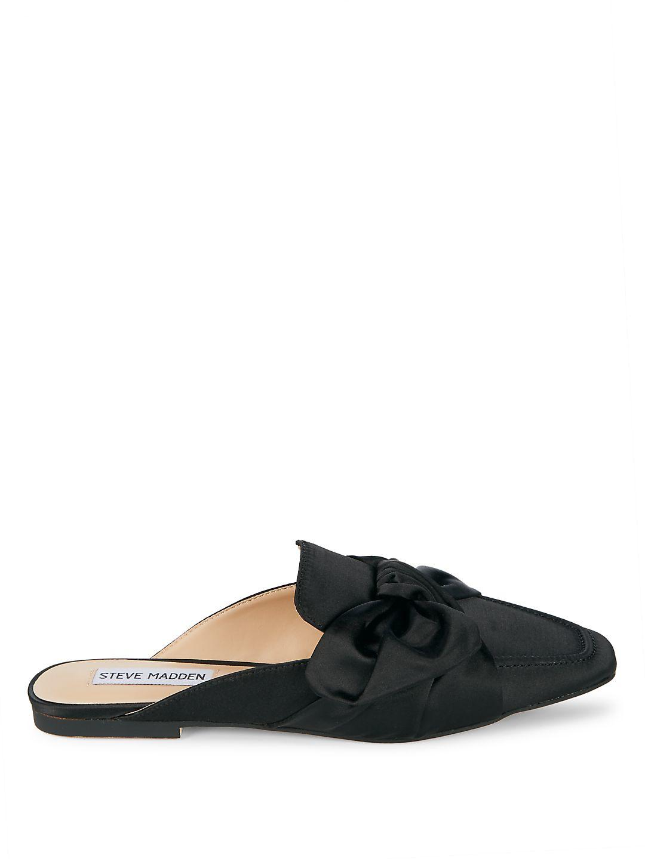 f33870ba3d1 Lyst - Steve Madden Mckenzy Satin Wrap Mules in Black