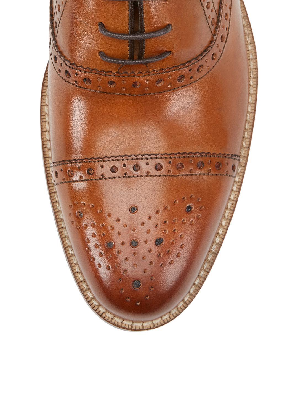 Millburn Co. Leather Brogue Captoe Dress Shoe in Tan (Brown) for Men