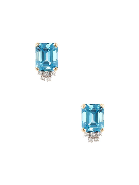 5655e4048 Estate Fine Jewelry Estate 14k Yellow Gold, Blue Topaz & 0.20 Total ...