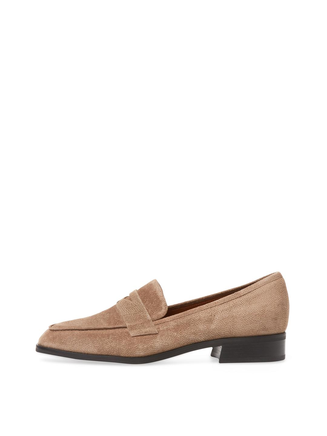 c3c046b816e Lyst - Aquatalia Sharon Suede Penny Loafer in Brown
