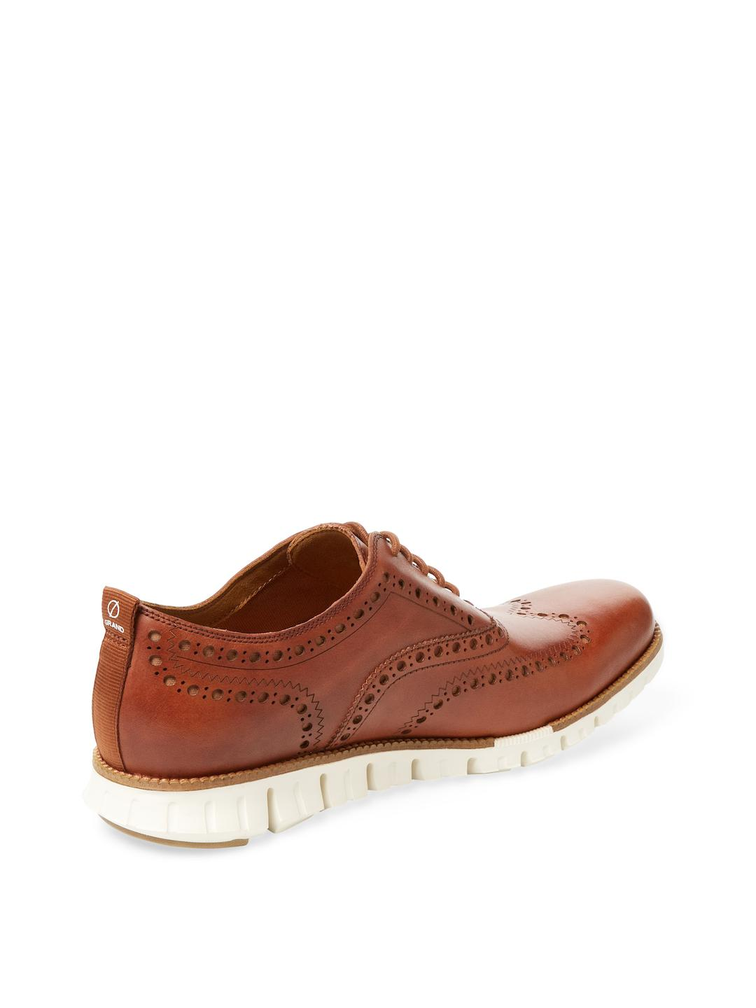 Cole Haan Leather Zerogrand Wngox Clii Sneaker In Brown