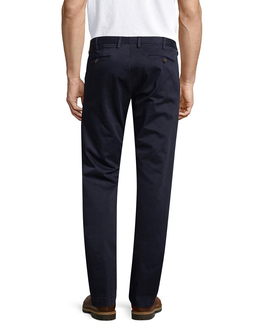 AT.P.CO Solid Button Trouser in Navy (Blue) for Men