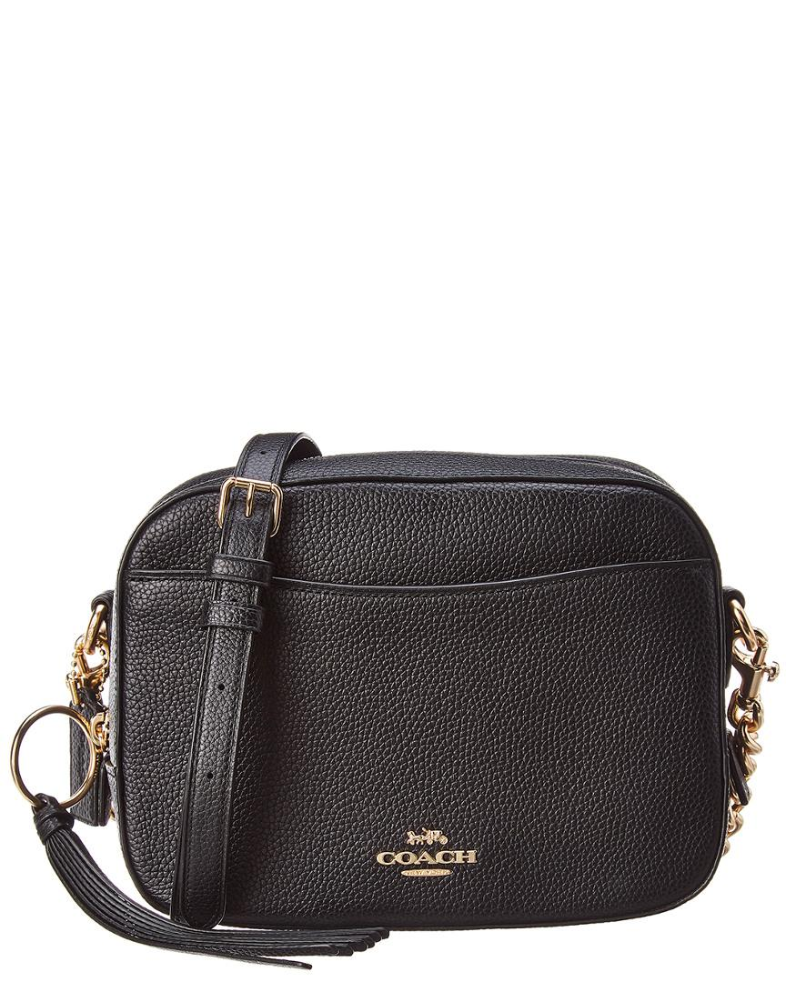COACH - Black Pebbled Leather Camera Bag - Lyst. View fullscreen daaa080476c1e