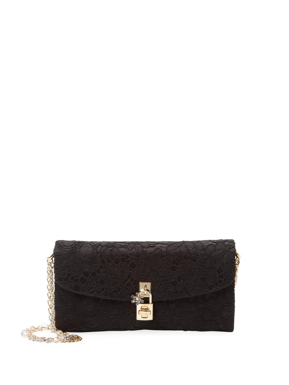 Black embroidered wallet Dolce & Gabbana OtOcmk77s5