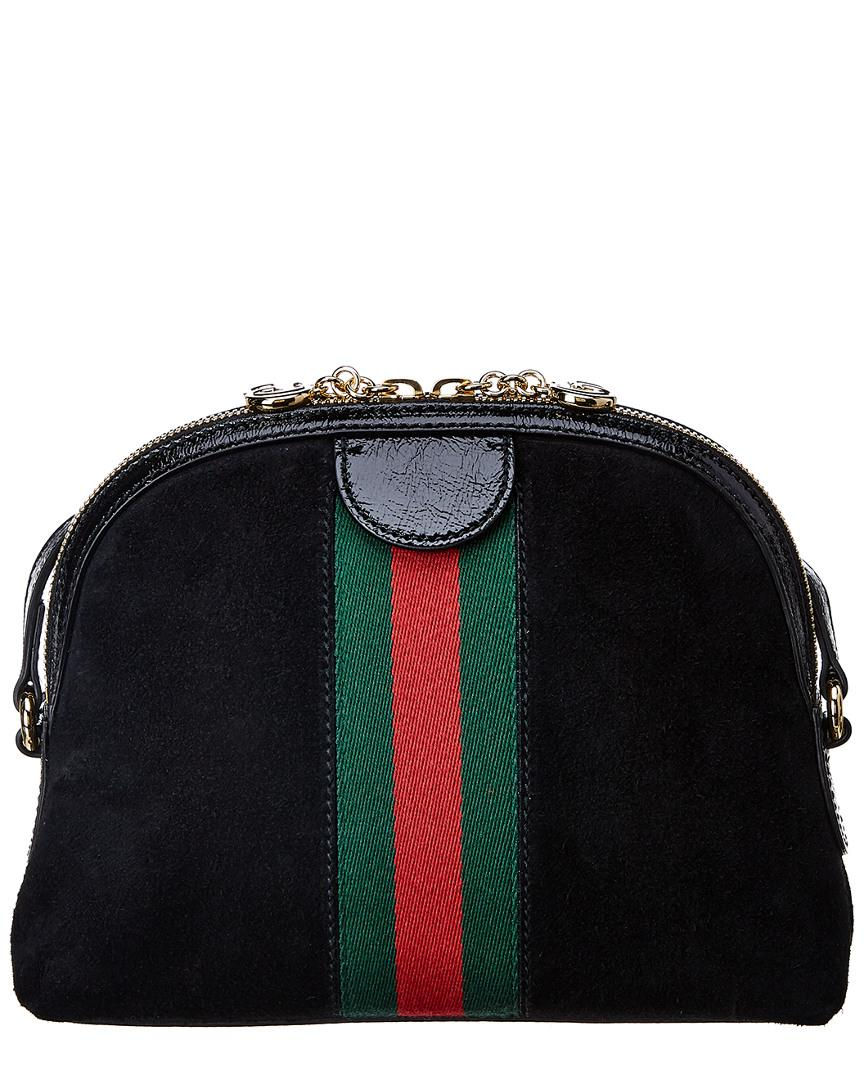 691502cc1ce2 Gucci Ophidia Small Suede Shoulder Bag in Black - Lyst