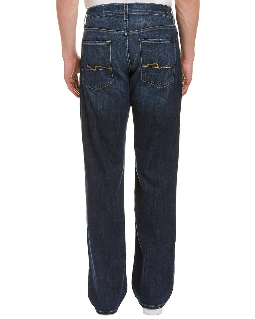 7 For All Mankind Cotton 7 For All Mankind Carsen Montecito Relaxed Straight Leg in Blue for Men