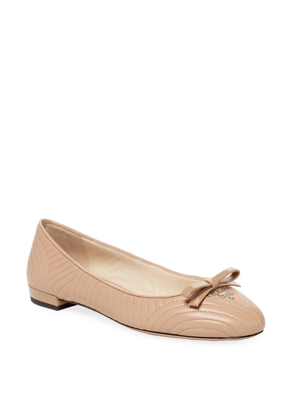 quilted ballerina shoes - Metallic Prada RlpCVCA