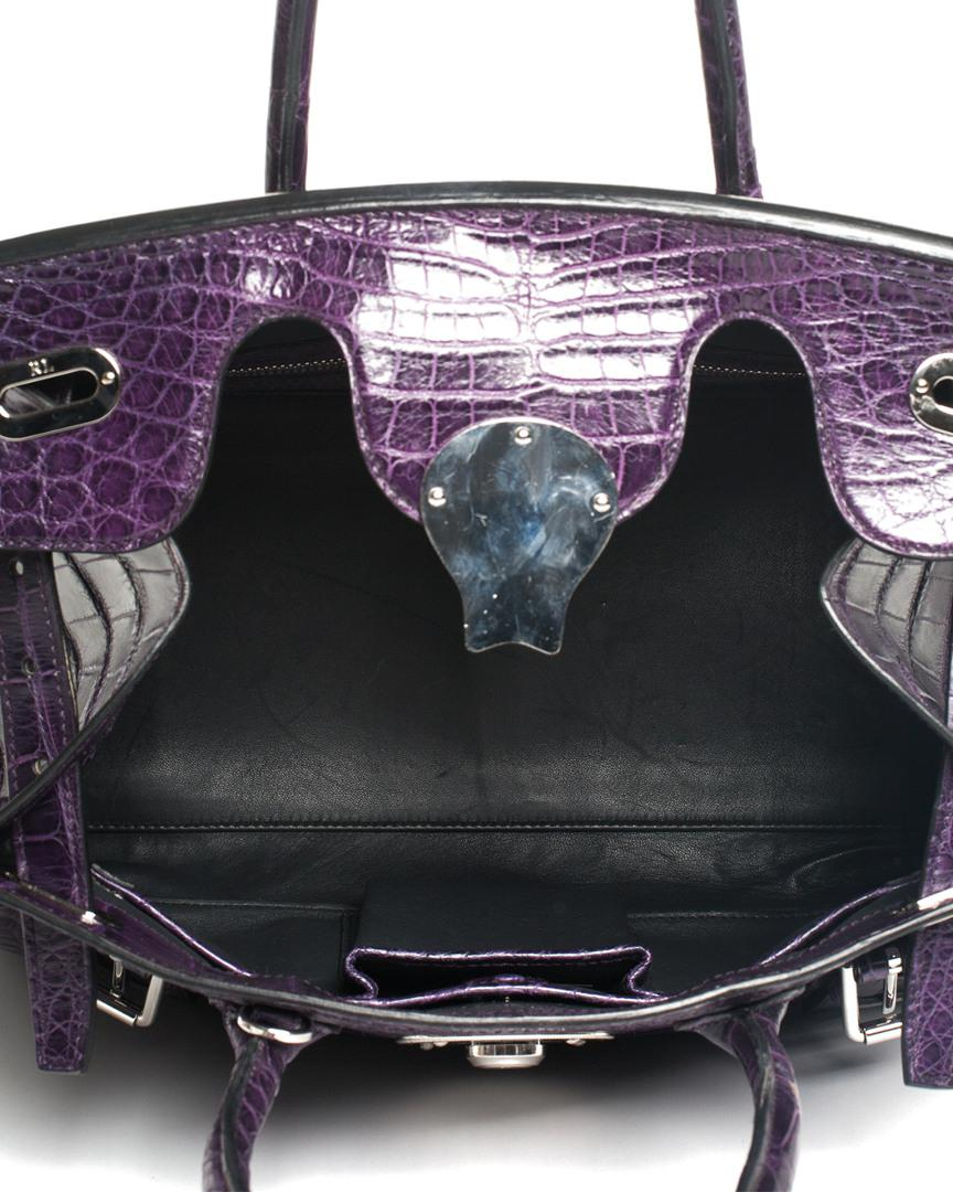 c034b99e4b6d Ralph Lauren - Purple Crocodile Leather Ricky 33 Satchel - Lyst. View  fullscreen