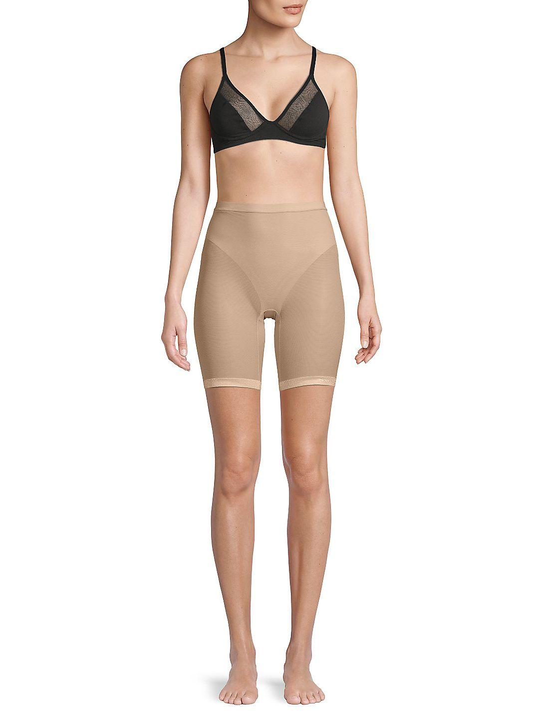 DKNY Synthetic Mesh Thigh Slimmer in Black