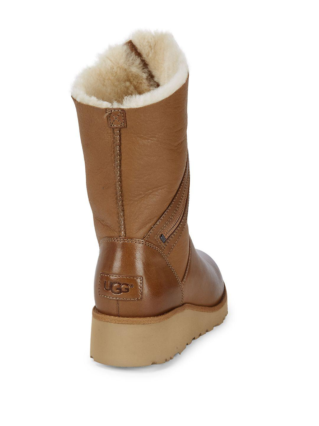 80ad7acd33d Ugg Brown Lorna Demi Wedge Boots