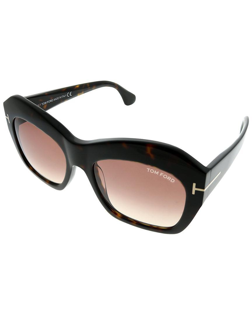 de8917f7d9 Tom Ford - Black Women s Oversized 54mm Sunglasses - Lyst. View fullscreen