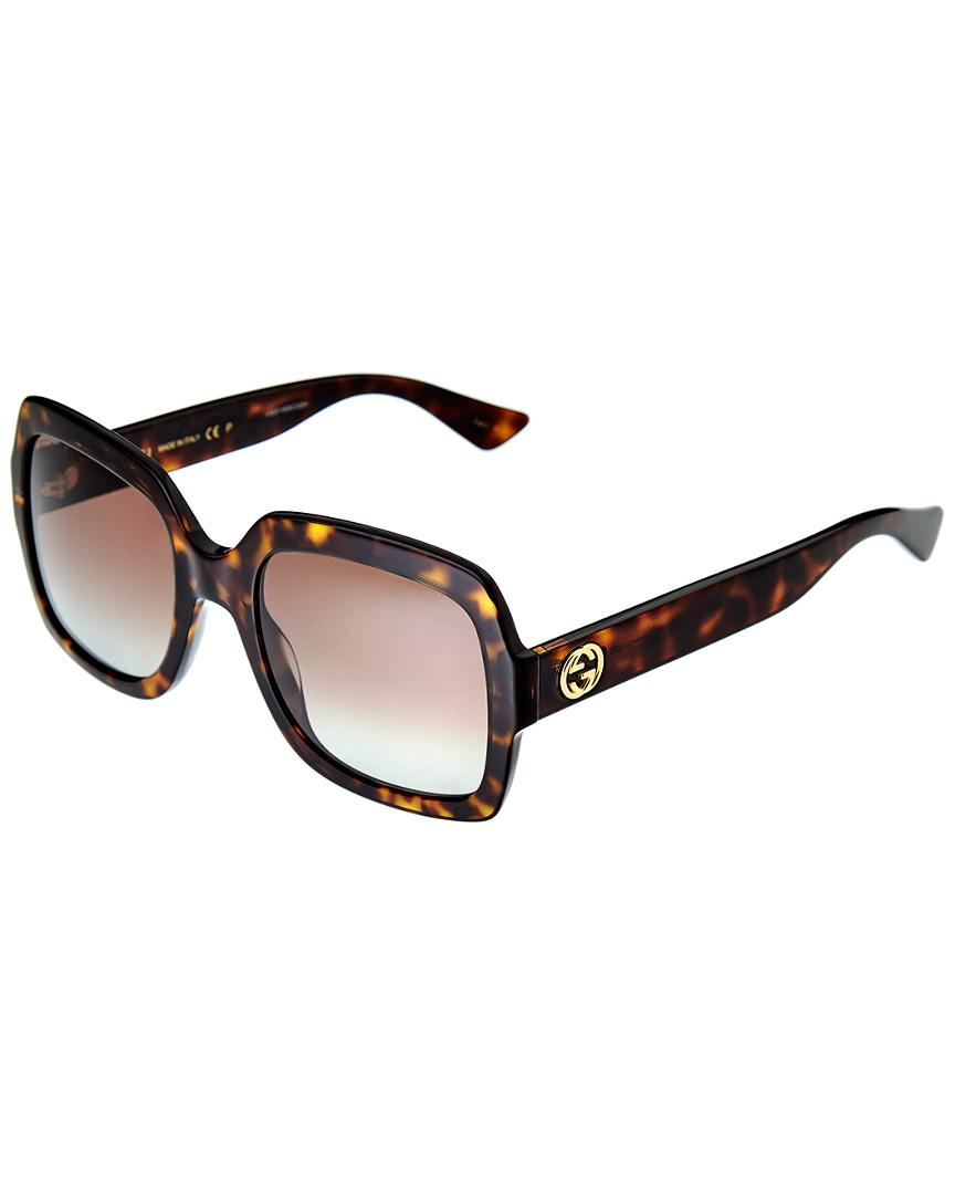 9371971fcdd Gucci Women s GG0036S 54mm Sunglasses - Lyst