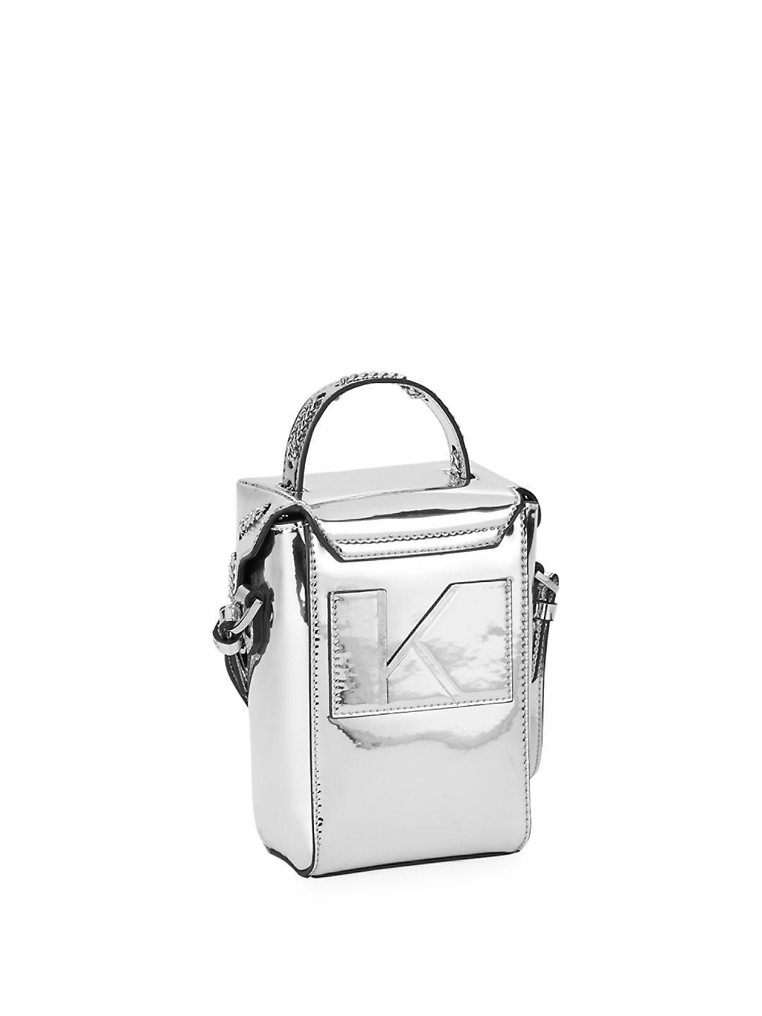 Kendall + Kylie Rubber Ally Metallic Crossbody Bag