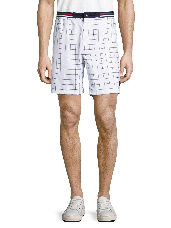 8341b69141a2 Fila Heritage Windowpane Shorts in White for Men - Lyst