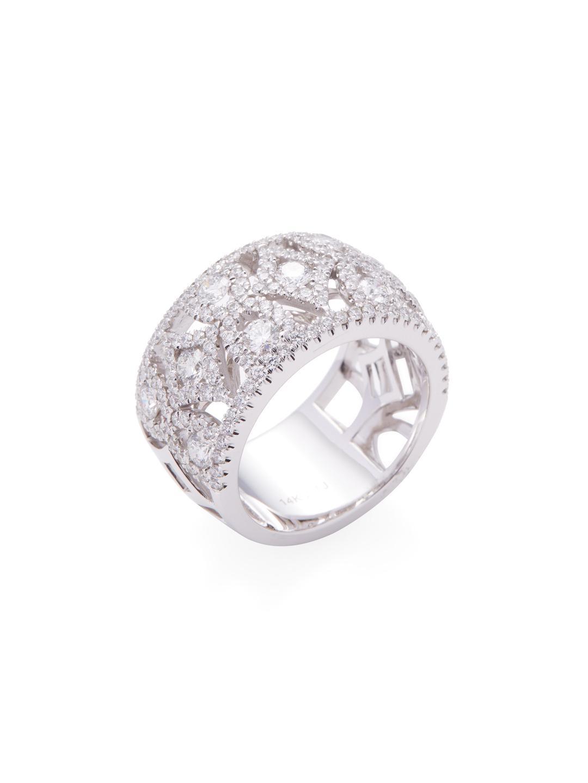 9c4631a037c78 Danni 14k White Gold & 2.12 Total Ct. Diamond Band Ring in Metallic ...