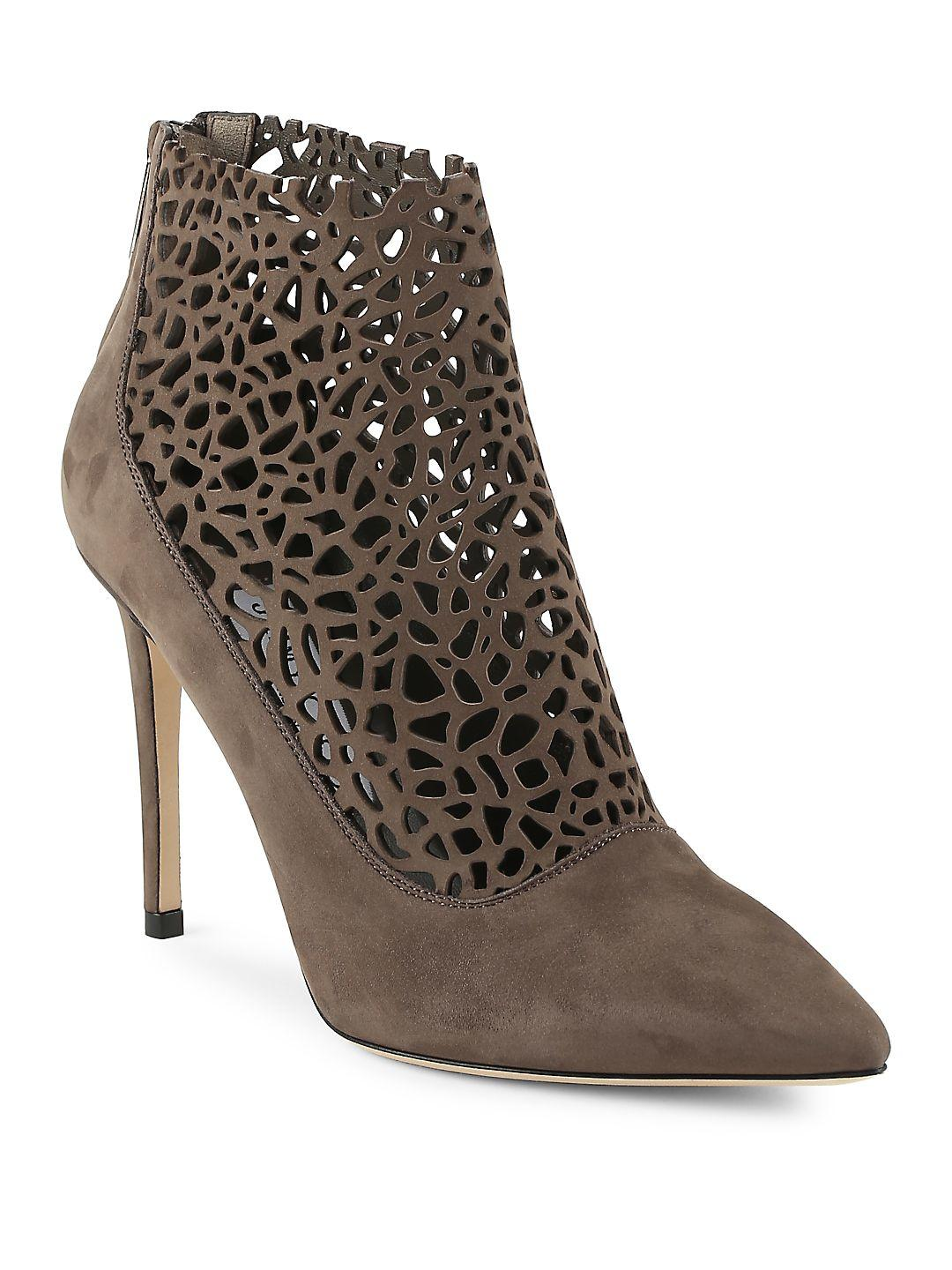 Jimmy Choo Point Toe Leather Ankle Boots