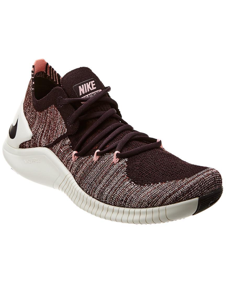 b22b391ebc7 Lyst - Nike Women s Free Tr 3 Flyknit Low-top Sneakers in Black ...