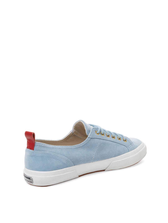 Del Toro Suede Low Top Sneaker in Light Blue (Blue)