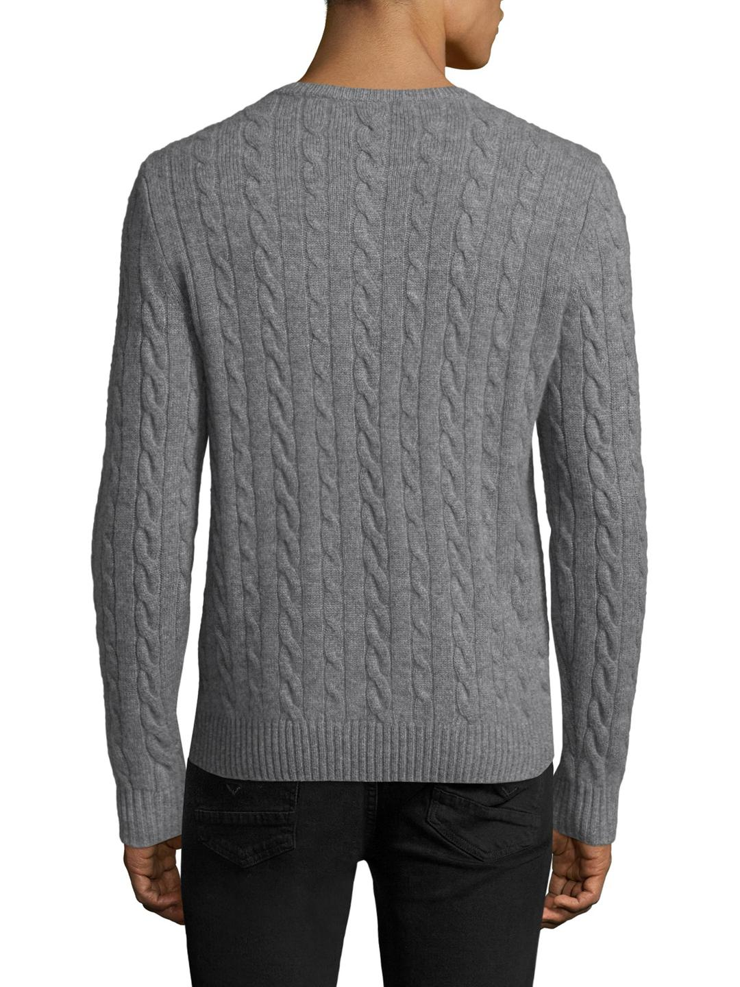 Saks fifth avenue Cashmere Cableknit Sweater in Gray for Men | Lyst