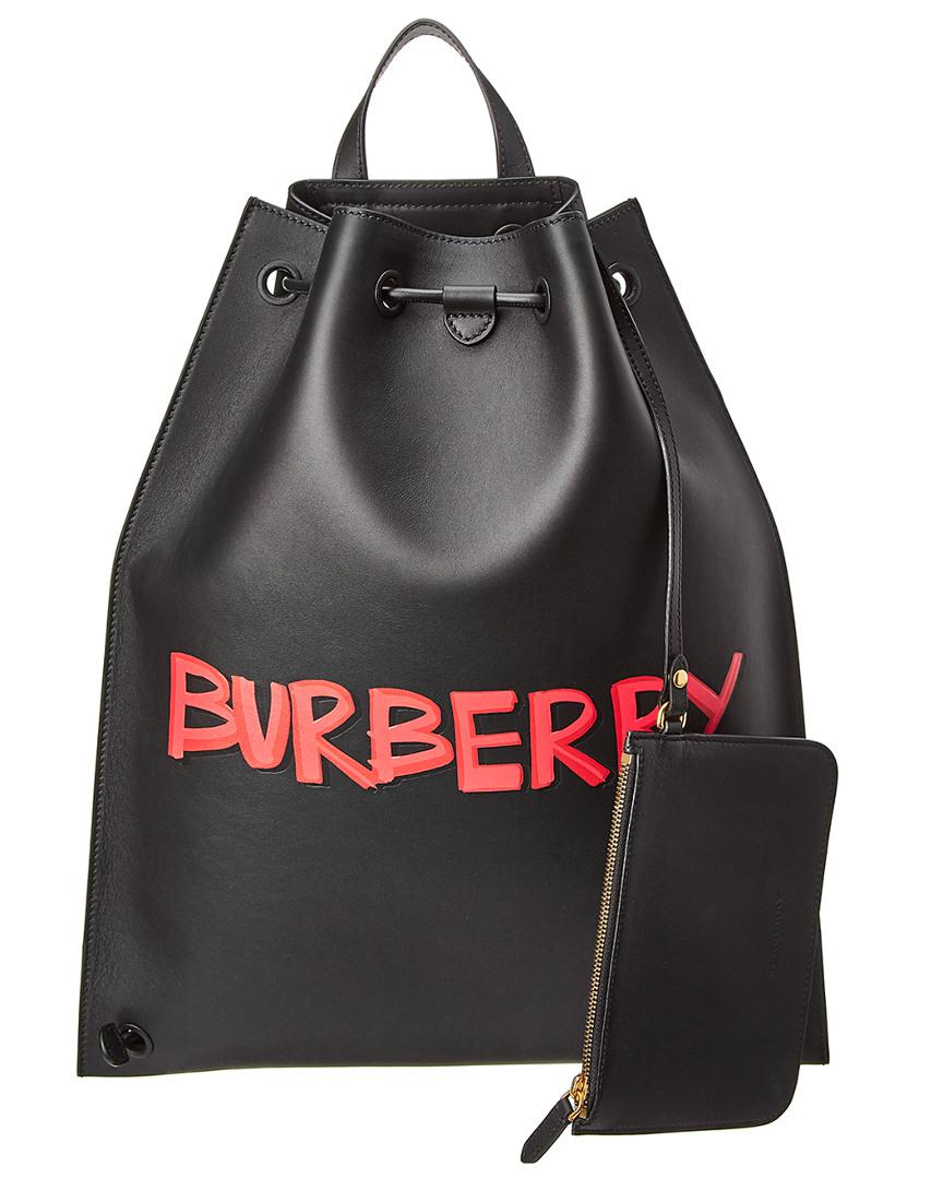 7ddce470dfbf Burberry - Black Graffiti Print Leather Backpack for Men - Lyst. View  fullscreen