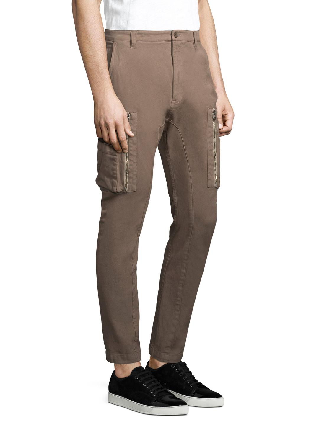 Helmut Lang Utility Cargo.core T in Brown for Men